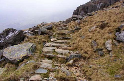 Watkin Path to Snowdon and Y Lliwedd