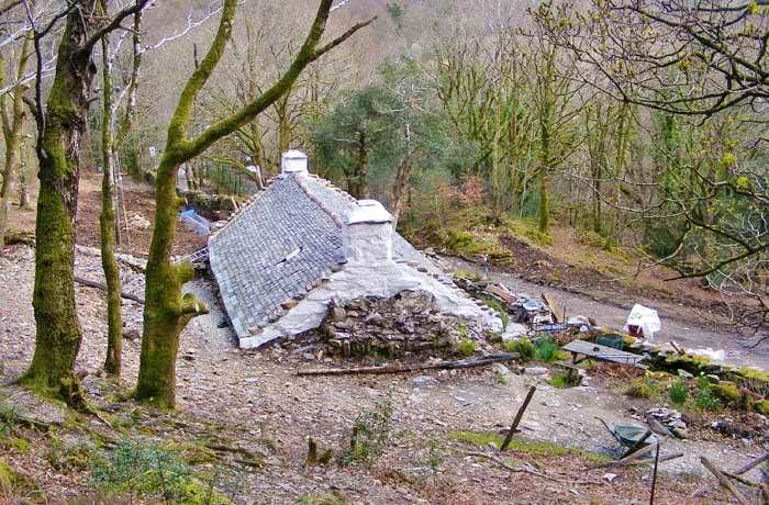 Buried Cottage at Nantmor, Snowdonia.