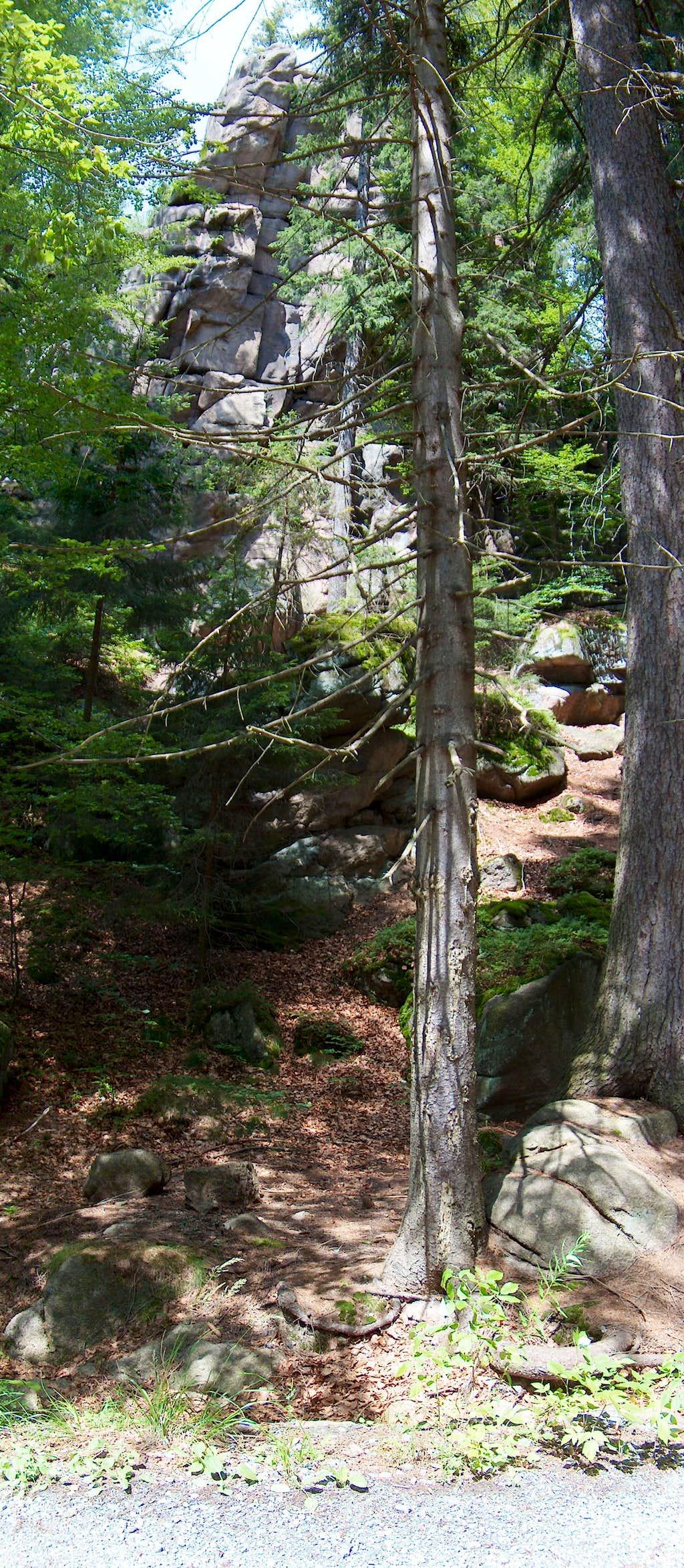 Rock-climbing rocks Rudawy Janowickie