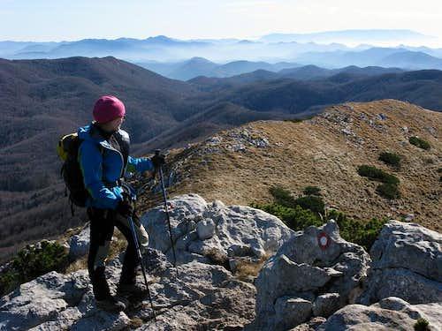 Platak - across the ridge - Snježnik