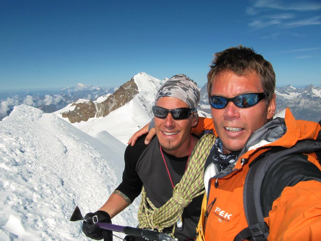 Me and Olle on the summit