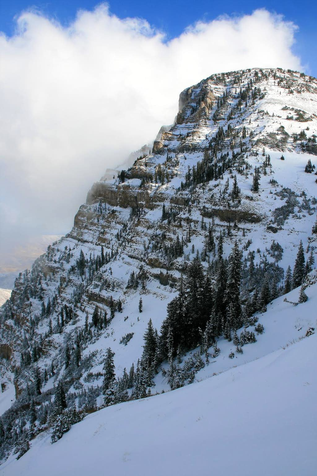 East Peak's rugged north face.