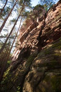 Retschelfelsen Doppelgipfel south face