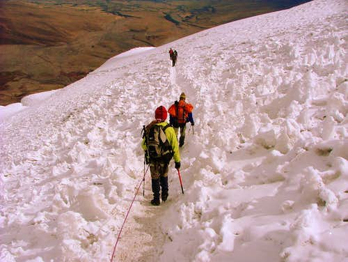 Exiting penitentes field.