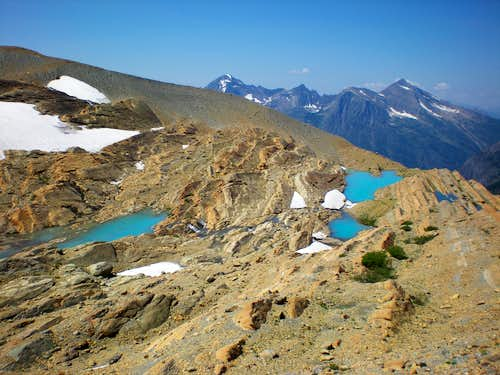 Melt Ponds in the Sperry Glacier Basin