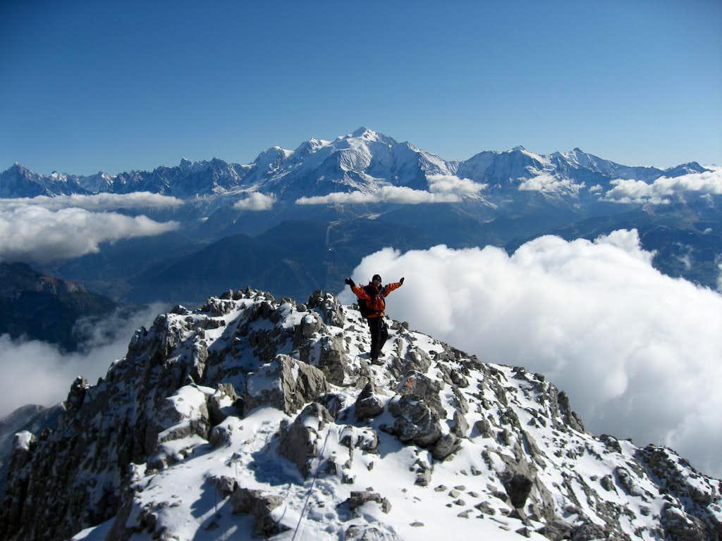 Pointe Percée summit