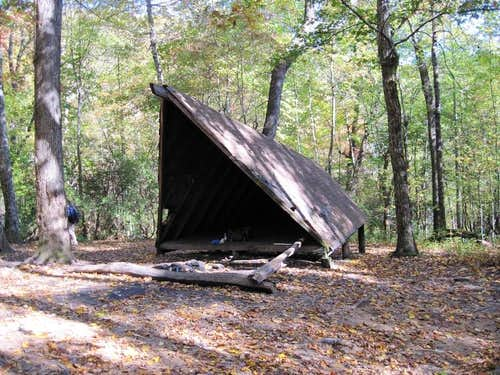 Trail Shelter at Butter Gap.