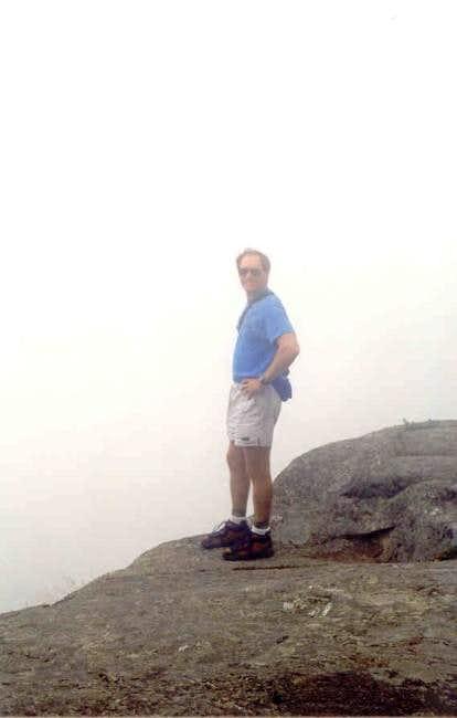 Geologist Chuck on the cliffs...