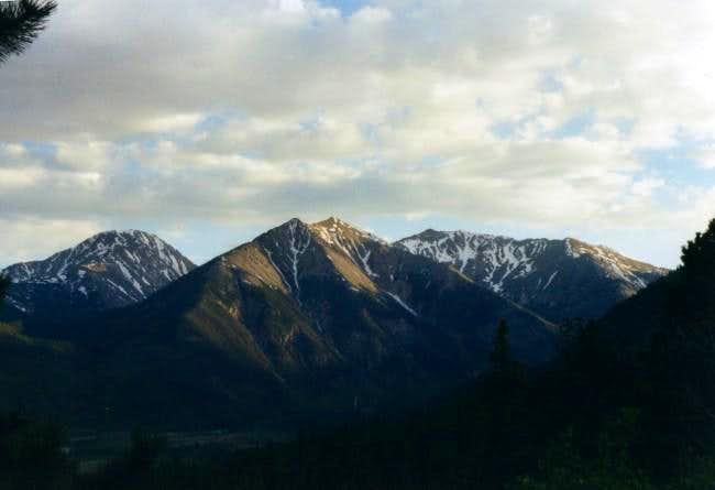 Rinker Peak with Twin Peaks...