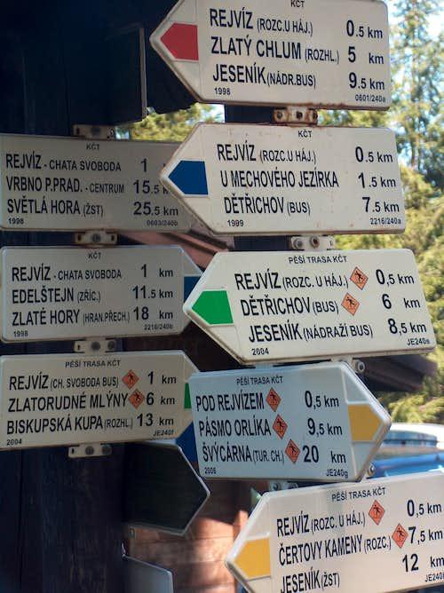 Rejvíz, directions...