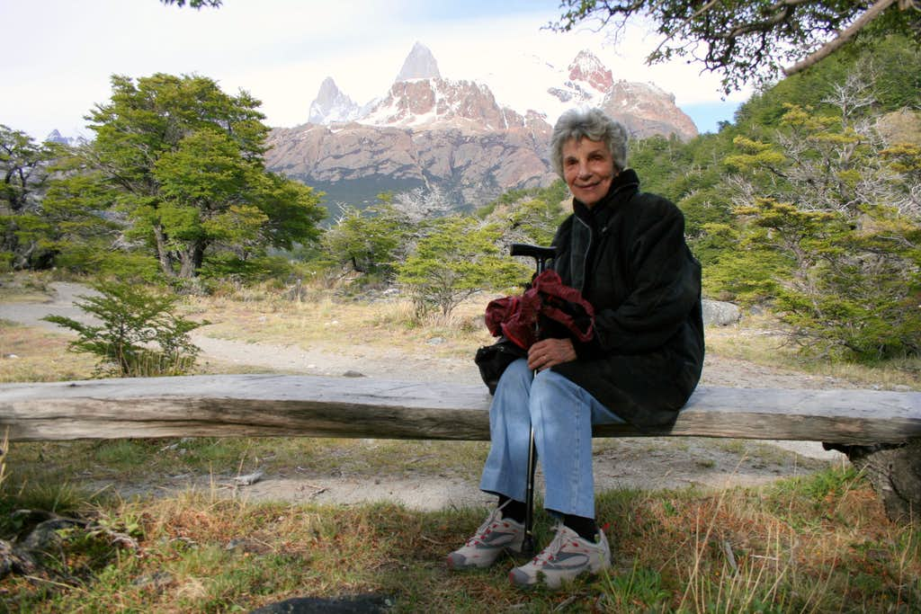 My mother and The Fitz Roy