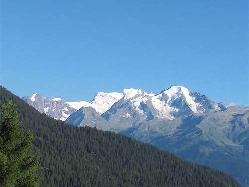 The Combins seen from just above Verbier