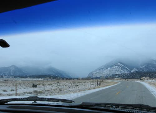 Approaching Mt. Antero