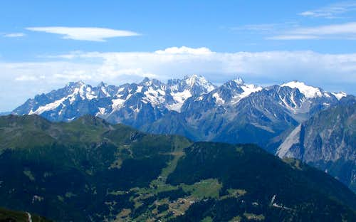 Aiguilles Suisses seen from Ruinettes above Verbier