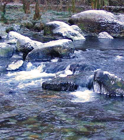 Afon Glaslyn in Winter