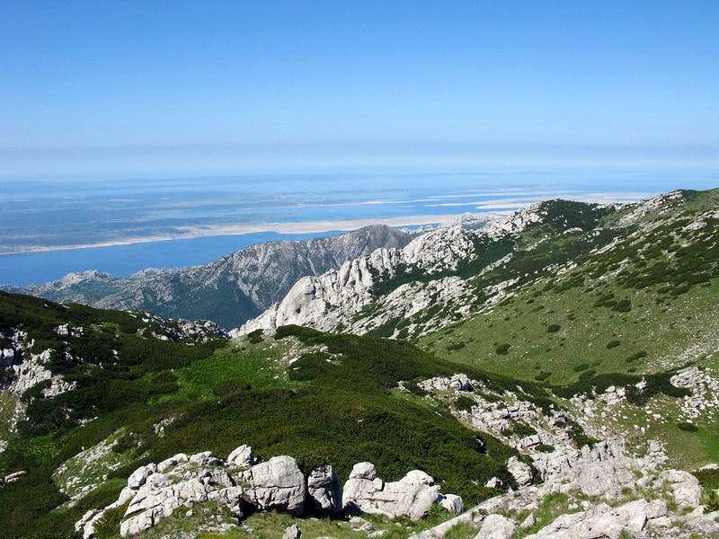 Beautiful view from Vaganski Vrh (1.757 mtrs)