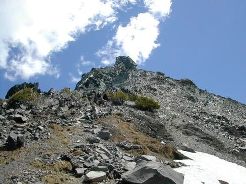 Scree slopes on the West...