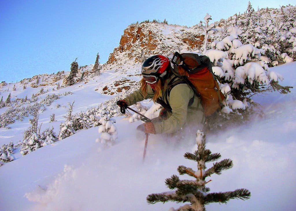 Me skiing Mt. Baldy....