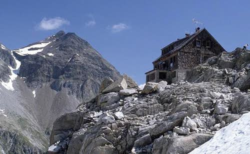 Barmer hut (2610 m) with...