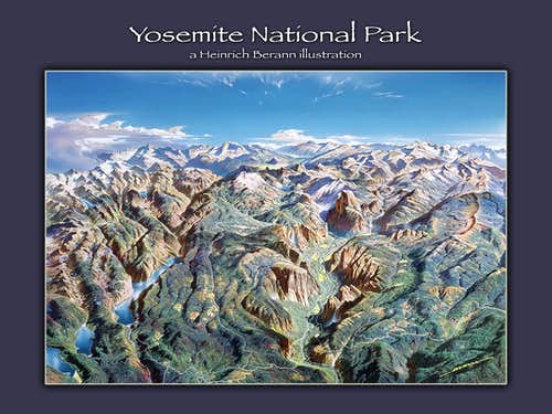 Heinrich Berann illustration - Yosemite