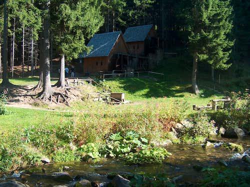 Zlaté Hory , the goldmining watermills