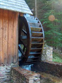 Zlaté Hory , the goldmining watermills