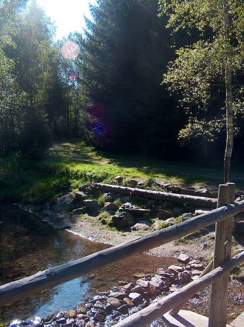 Zlaté Hory , over the river
