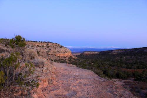 Last view of the mesa with Tsankawi ruins