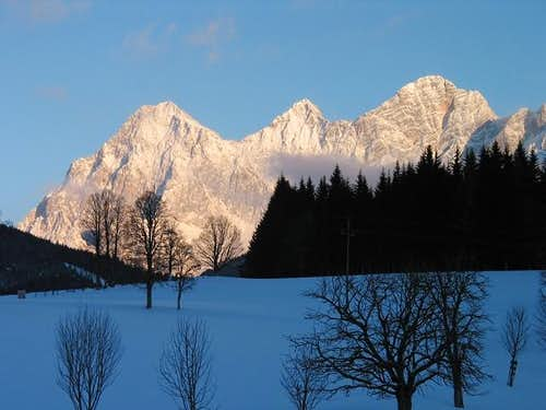 Dachstein southface in winter...