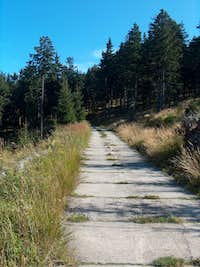 The road leading to the antenna on the top (or almost) of Czarna Góra