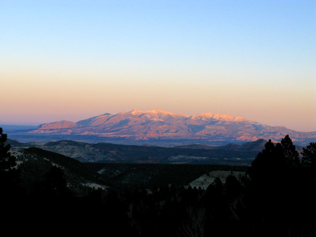 Henry Mountains at Sunset