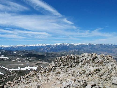 The Sierra Nevada mountains...