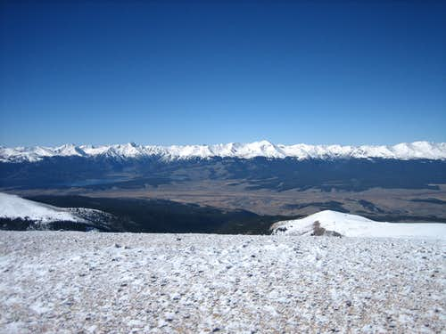 Sawatch Range seen from the summit of Horseshoe Mountain