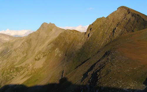 Close-up view of the Greilkopf in the evening light