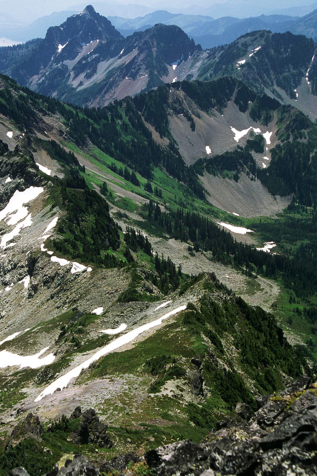 Chikamin Ridge from Chikamin Peak