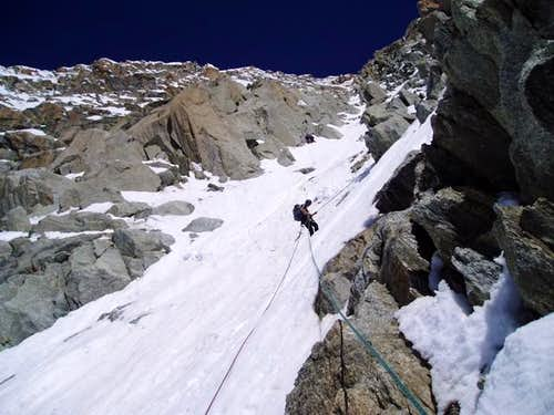 Descending the Whymper...