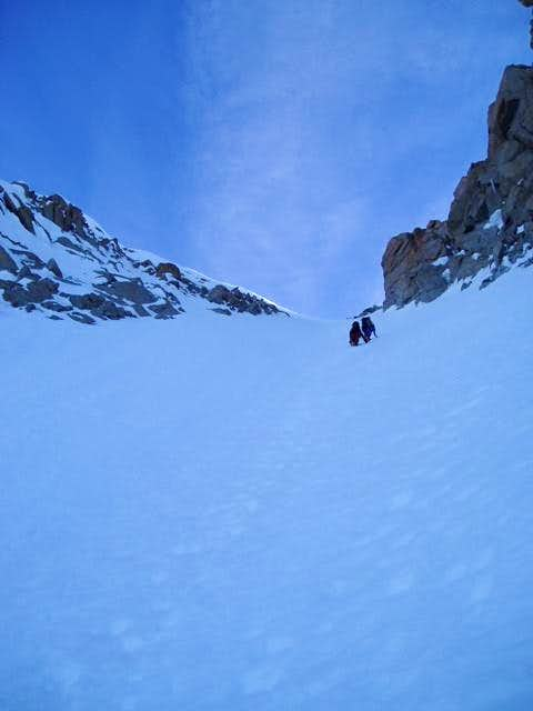 The last, steep, section of...