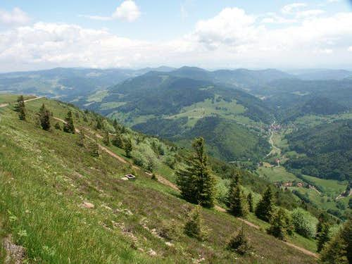 Belchen, view to the S with...