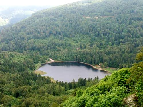Blanchemer Lake, Vosges,...