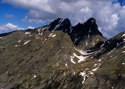 View towards the Crestone Peaks