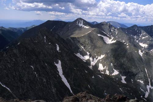 Tijeras Peak from Pico Asilado Summit