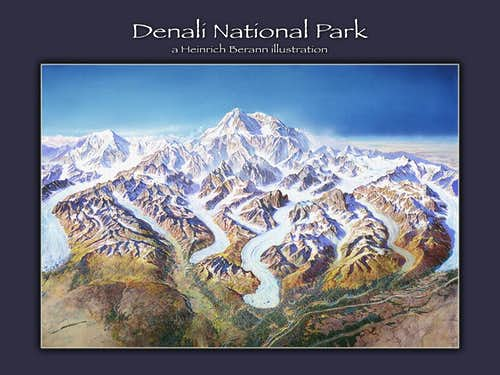 Heinrich Berann illustration - Denali NP