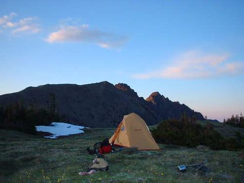 Camp above Marmot Pass;...