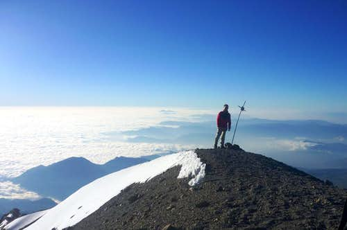 At the summit of Pico de Orizaba, November \'09