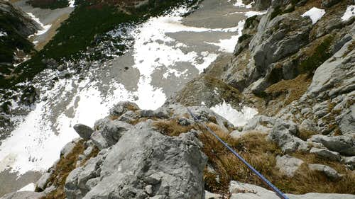 Looking down pitch seven
