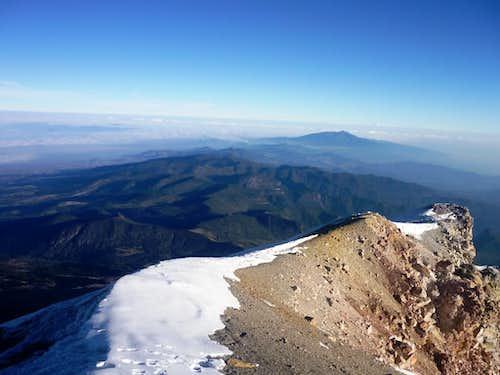View of Cofre de Perote from Pico de Orizaba