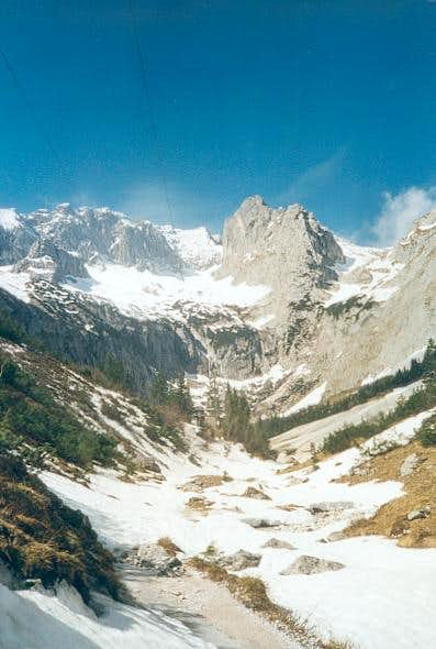 Zugspitze (middle) view from...