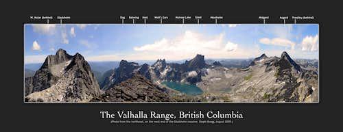 Valhalla Range, British Columbia
