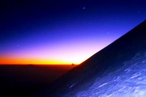 Sunrise on the Jamapa glacier