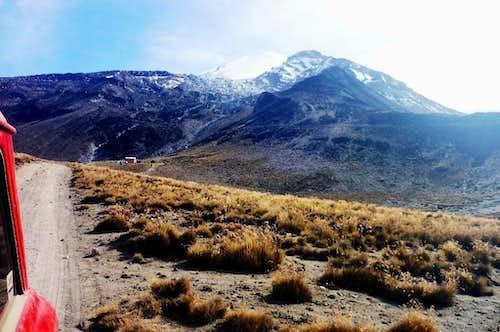 The Piedra Grande hut and Pico de Orizaba